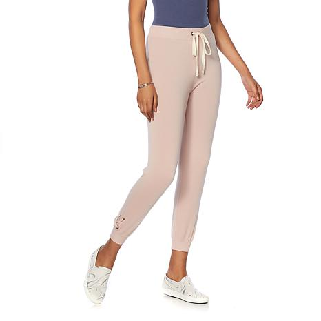 Daisy Fuentes Soft French Terry Lace-Up Jogger