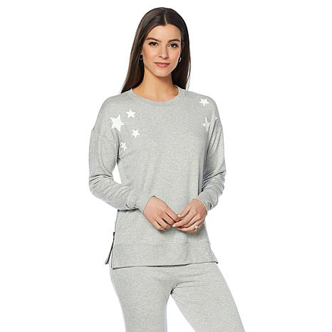 Daisy Fuentes Soft French Terry Size-Up Sweatshirt