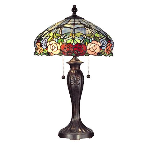 Dale Tiffany Zenia Rose Table Lamp 7244906 Hsn
