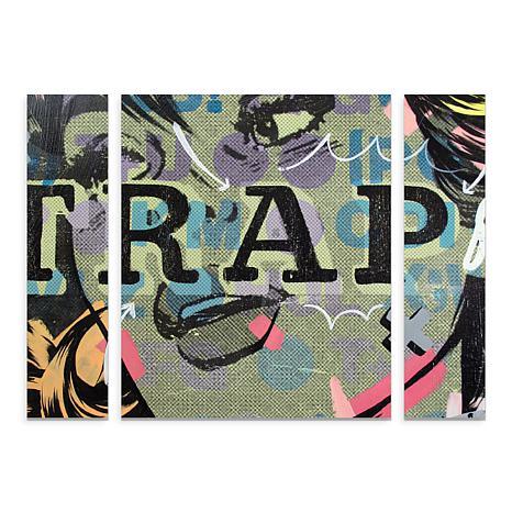 "Dan Monteavaro ""Trap"" Multi-Panel Art Set - 30"" x 41"""
