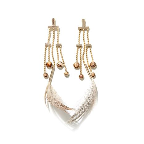 Danielle Nicole Feather Chandelier Earrings