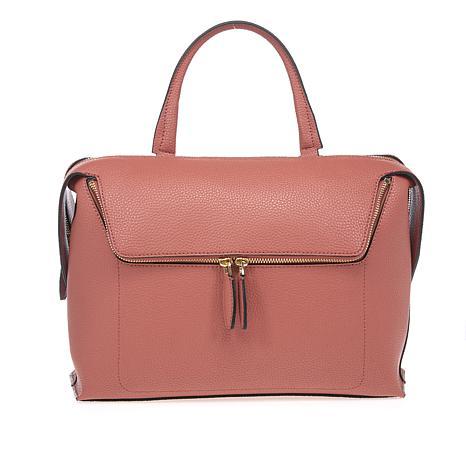 Danielle Nicole Large Zipper Pocket Leather Satchel ...