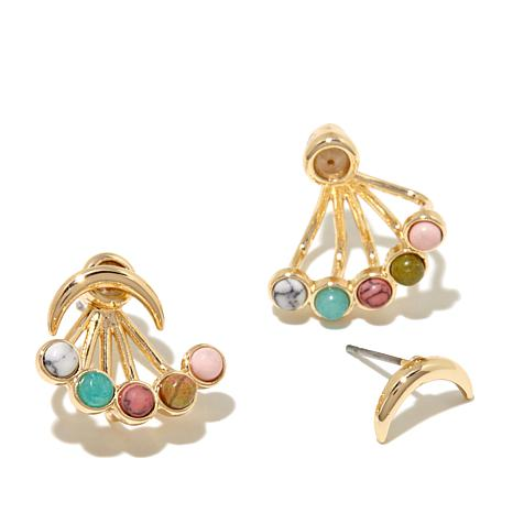 "Danielle Nicole ""Sun Stone"" Multicolor Stone Earrings"