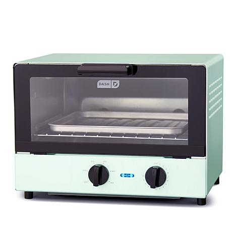 DASH 1100-Watt Compact Toaster Oven with Recipes