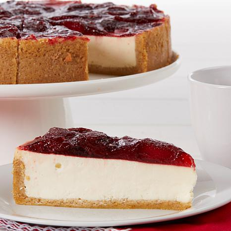 """David's Cookies Set of 2 10"""" Strawberry Cheesecakes"""