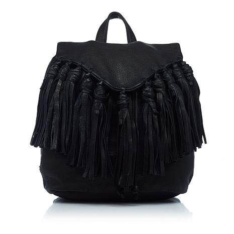 488655c6a1f7 Day   Mood Lee Leather Backpack with Fringe - 8695614