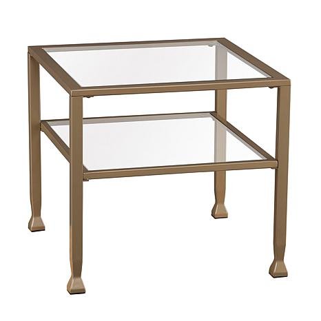 Dayton Metal/Glass Bunching Cocktail Table - Matte Gold