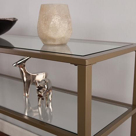 console table matte gold glass uk smoked gulliver modern
