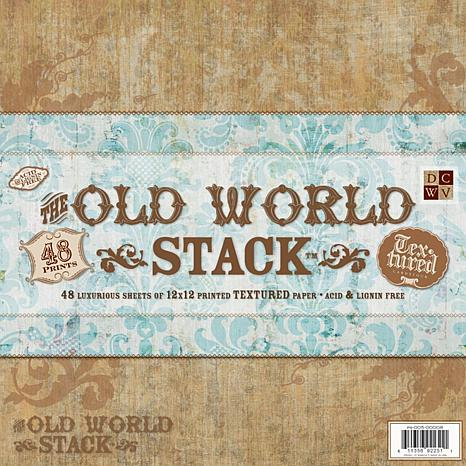 DCWV Paper Stack Premium Printed Cardstock - Old World
