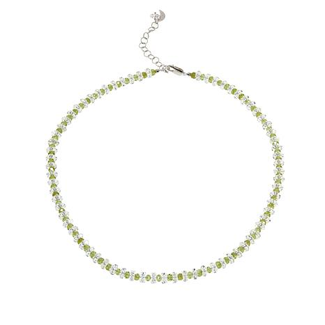 img peridot with knotted clasp trigger gold filled collections necklace