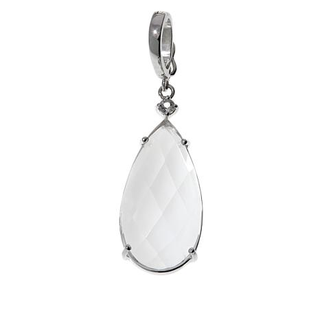 "Deb Guyot Herkimer ""Diamond"" Quartz and Gem Pendant"