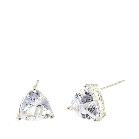 "Deb Guyot Herkimer ""Diamond"" Quartz Trillion-Cut Studs"