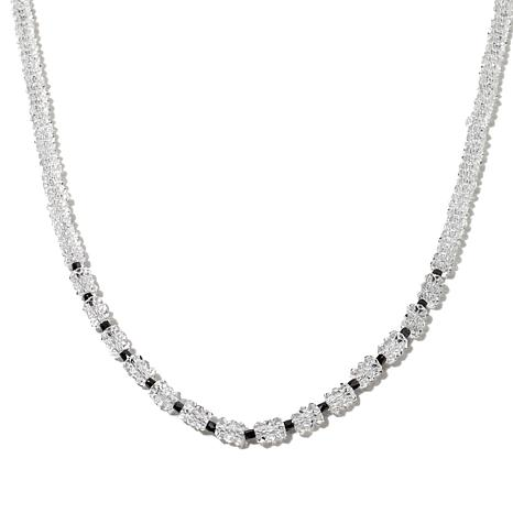 Deb Guyot Herkimer Quartz and Black Diamond Necklace
