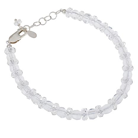 "Deb Guyot Square and Rondelle Herkimer ""Diamond"" Quartz Bracelet"