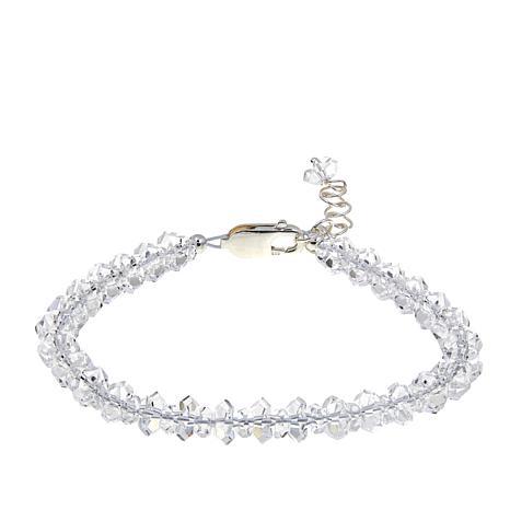 "Deb Guyot Sterling Silver Herkimer ""Diamond"" Quartz Tennis Bracelet"