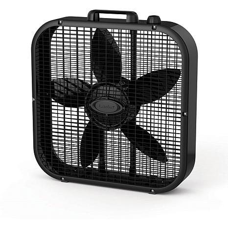 Decor Colors 20 In. Box Fan - Black