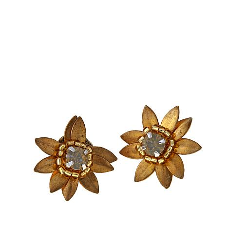 "deepa by Deepa Gurnani® ""Gisella"" Flower Stud Earrings"