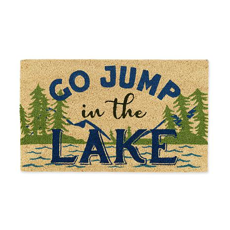 """Design Imports """"Go Jump in the Lake"""" Doormat"""