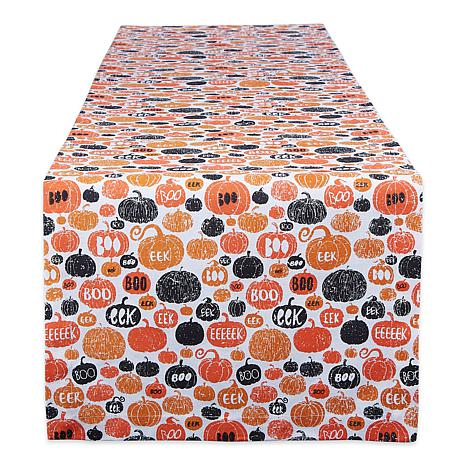 "Design Imports Pumpkin BOO! 14"" x 108"" Table Runner"