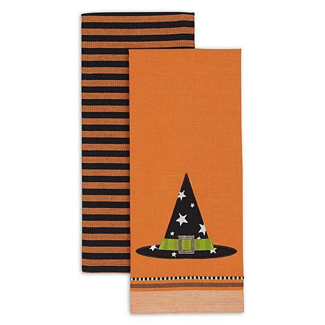 Design Imports Witch Hat Kitchen Towel Set of 2