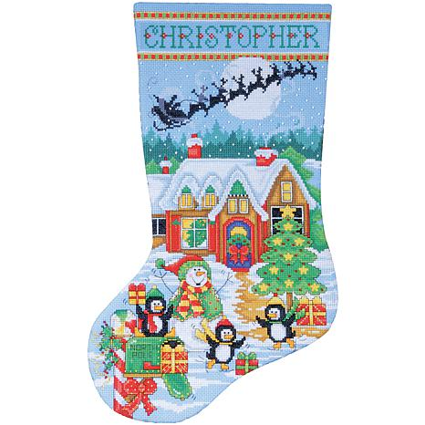 Design Works Counted Cross Stitch Kit 17 Long - Penguin Party