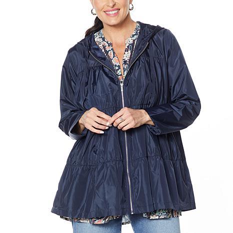 DG by Diane Gilman Water-Resistant Tiered Raincoat