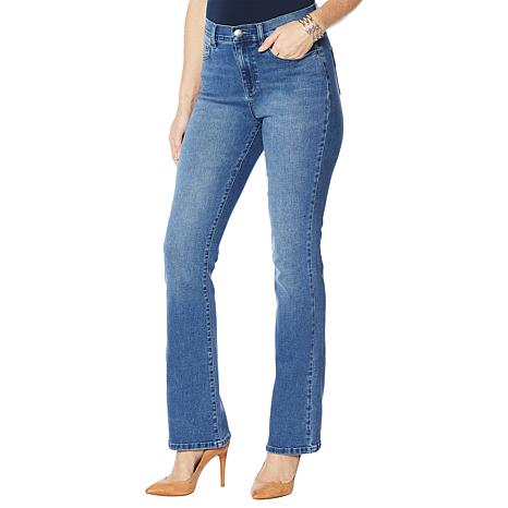 DG2 by Diane Gilman Boot-Cut Jean with Embellished Pockets  - Basic