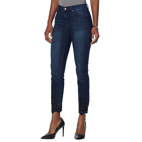 DG2 by Diane Gilman Classic Stretch Embroidered Hem Jean