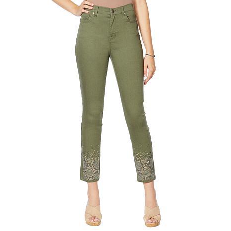 DG2 by Diane Gilman Embellished Skinny Ankle Jean    - Fashion