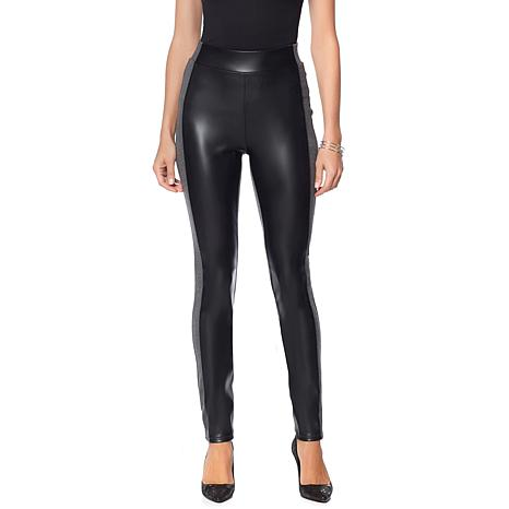 DG2 by Diane Gilman Faux Leather and Ponte Legging