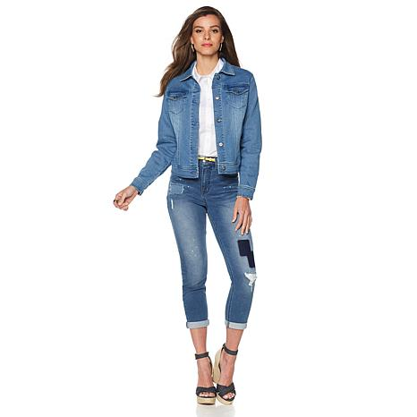 DG2 by Diane Gilman Virtual Stretch Classic Denim Jacket - 8307874 ...