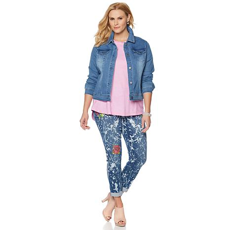 DG2 by Diane Gilman Virtual Stretch Classic Denim Jacket - 8307874