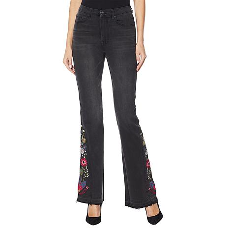 DG2 by Diane Gilman Virtual Stretch Embroidered Flare Jean