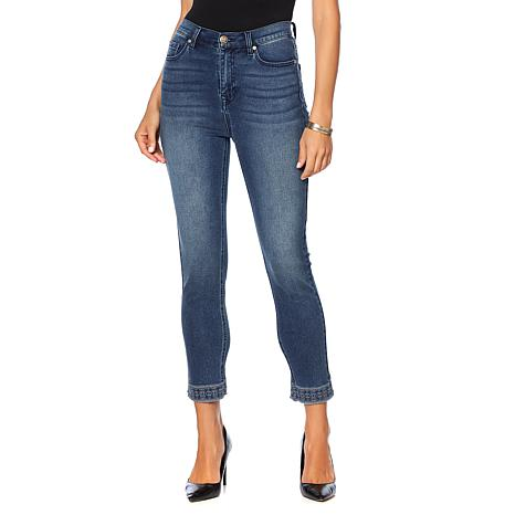 DG2 by Diane Gilman Virtual Stretch Embroidered Hem Cropped Jean-Basic