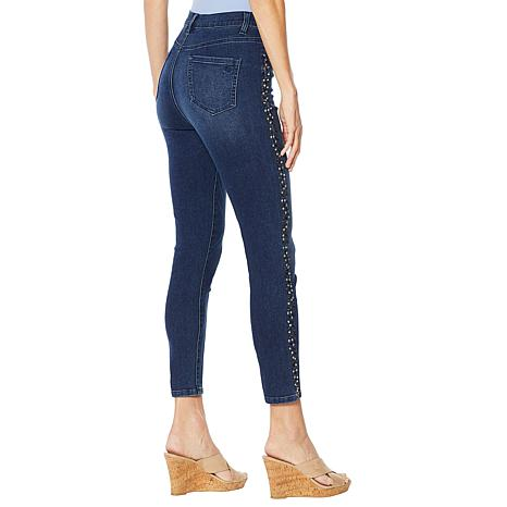 cead9c75 DG2 by Diane Gilman Virtual Stretch Studded Skinny Ankle Jean - Basic -  9069128 | HSN