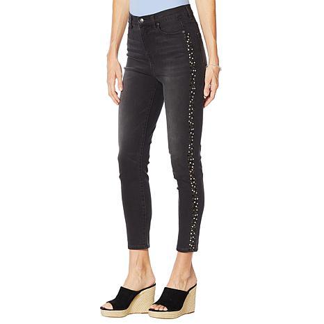 DG2 by Diane Gilman Virtual Stretch Studded Skinny Ankle Jean - Basic
