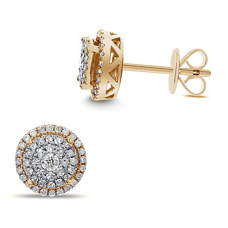 Diamond Couture 14k Gold 0 4ctw Round Stud Earrings