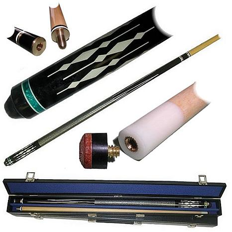 Diamond Hardwood 2-piece Pool Cue with Case