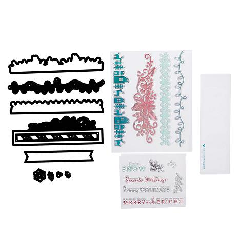 Diamond Press Christmas Border Stamp and Die Set