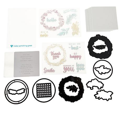 Diamond Press Rustic Wreath Shaker Card Stamp and Die Set