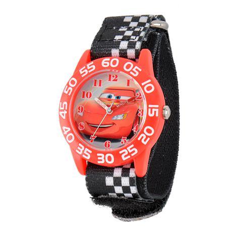 Disney Cars Kid's Red Time Teacher Watch w/ Printed Stretch Strap