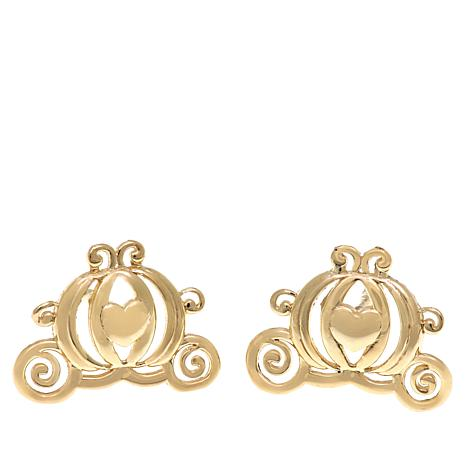 7307e9a16 Disney Kids 14K Yellow Gold Carriage Stud Earrings - 8524326 | HSN