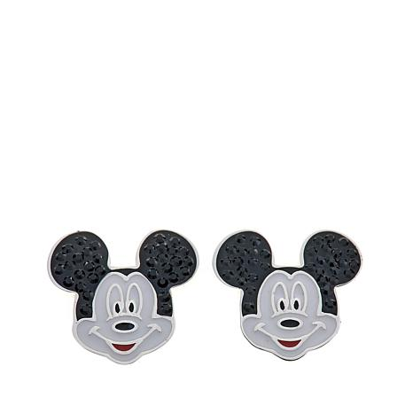 41c1b22ac Disney Kids Enamel Mickey Mouse Sterling Silver Stud Earrings - 8525108 |  HSN