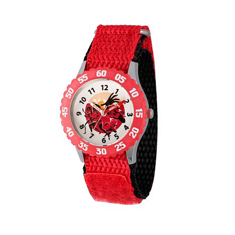 """Disney """"The Incredibles 2"""" Kid's Red Nylon Strap Time-Teacher Watch"""