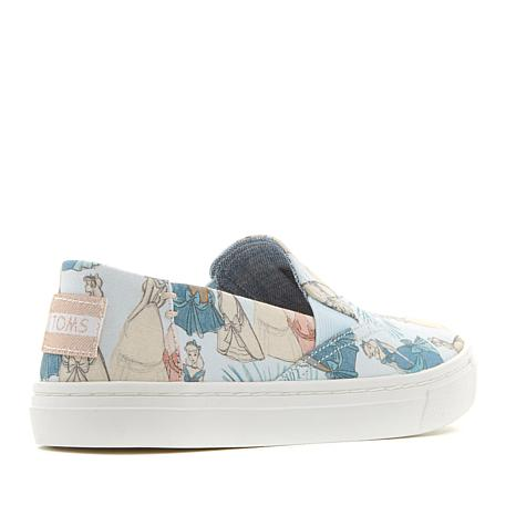 75a3235c Disney x TOMS Cinderella Youth Luca Slip-On - 8763976 | HSN