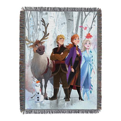 Disney's Frozen 2 - Peering Out Woven 051 Tapestry Throw Blanket