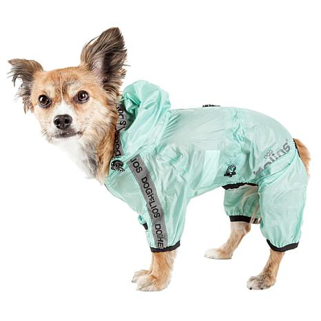 Dog Helios Torrential Shield Adjustable Full Body Dog Raincoat - XS
