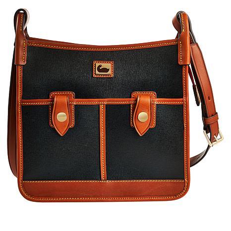 Dooney & Bourke Camden Saffiano Leather Double Pocket Crossbody