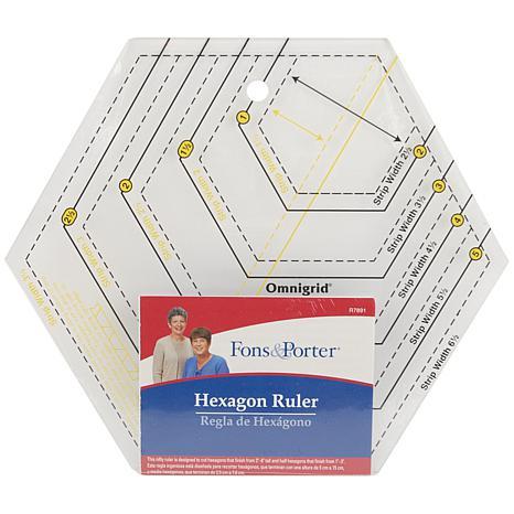 Dritz Fons and Porter Hexagon Ruler
