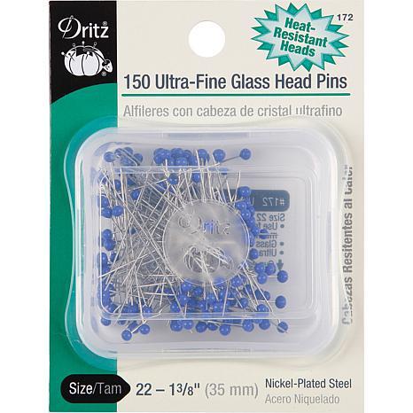 Dritz Ultra-Fine Glass Head Pins 150-pack